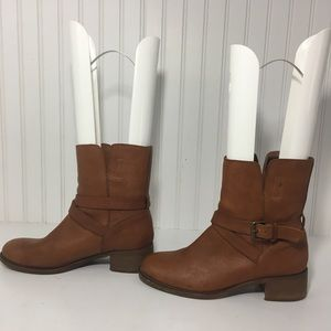 J.Crew brown leather 'Ryder' ankle Moto boots 6M